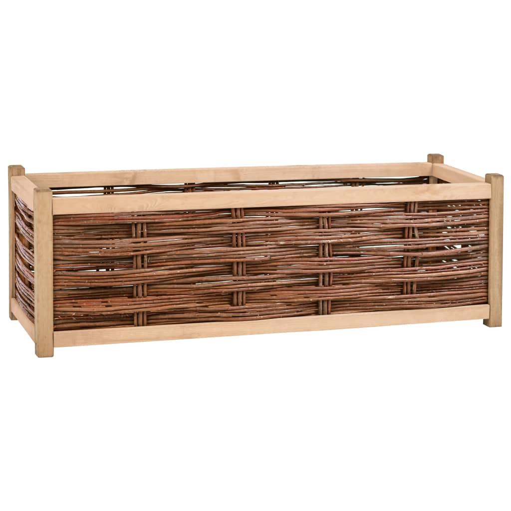 vidaXL Záhradný kvetináč 120x40x40 cm borovicové drevo