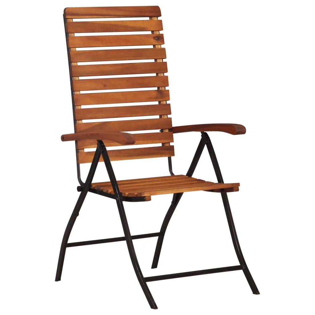 vidaXL Sklápacie záhradné stoličky z akáciového dreva 2 ks
