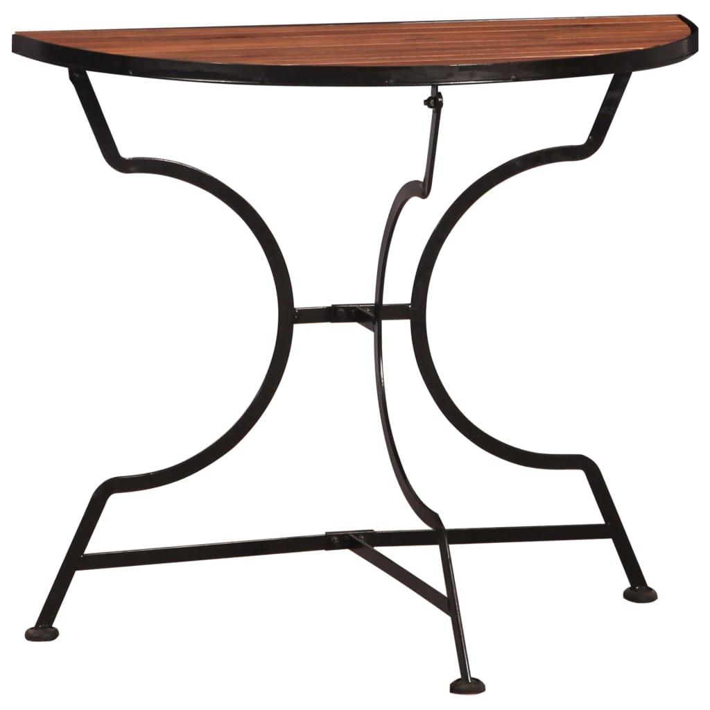 vidaXL Bistro stolík z akáciového dreva 85x43x75 cm
