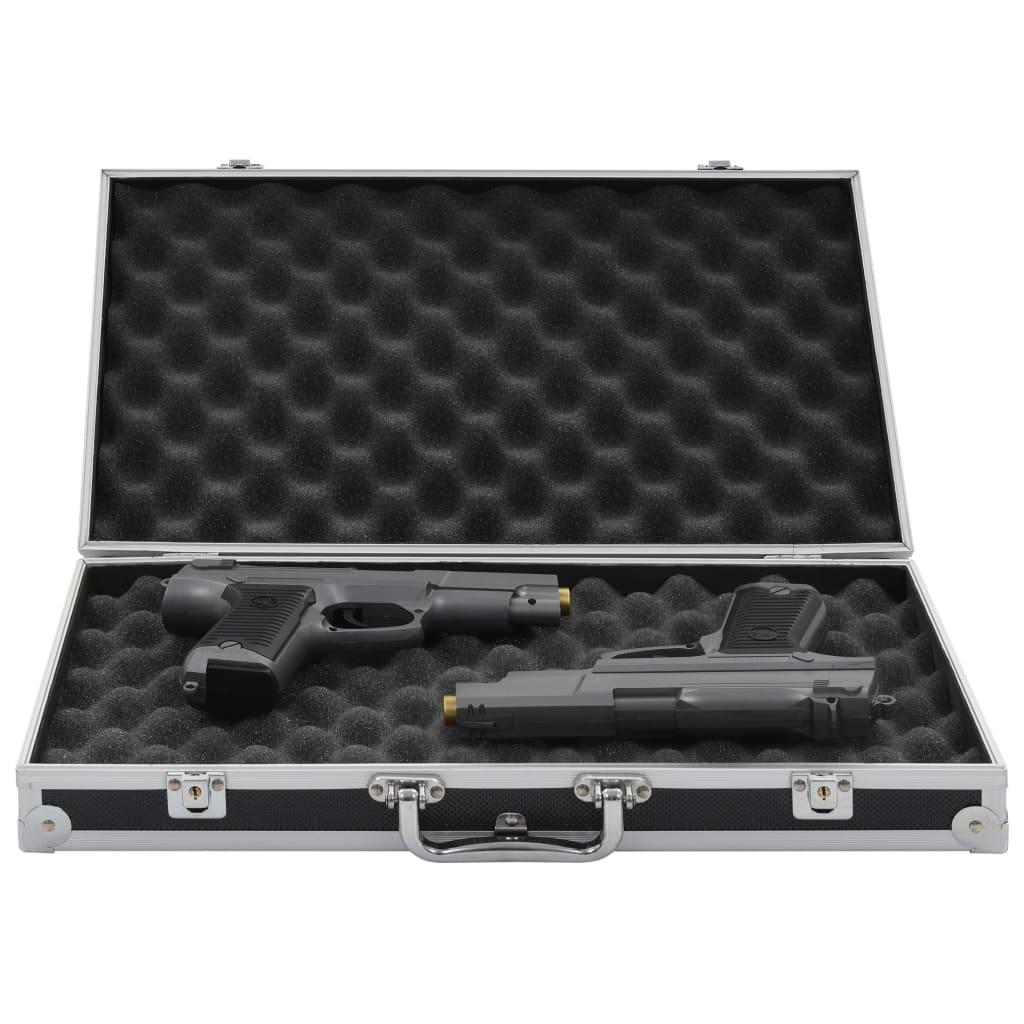 vidaXL Kufrík na zbraň hliníkový ABS čierny