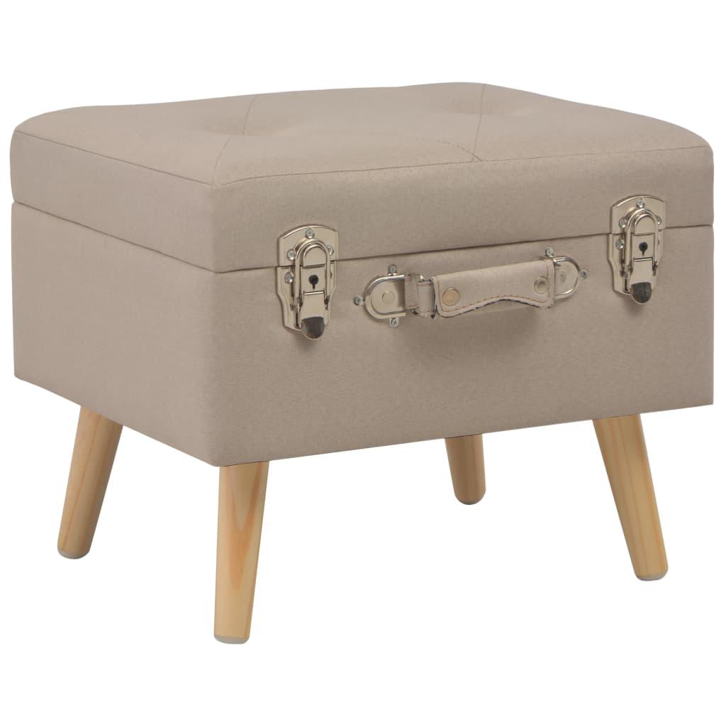 vidaXL Úložná stolička 40 cm béžová látková