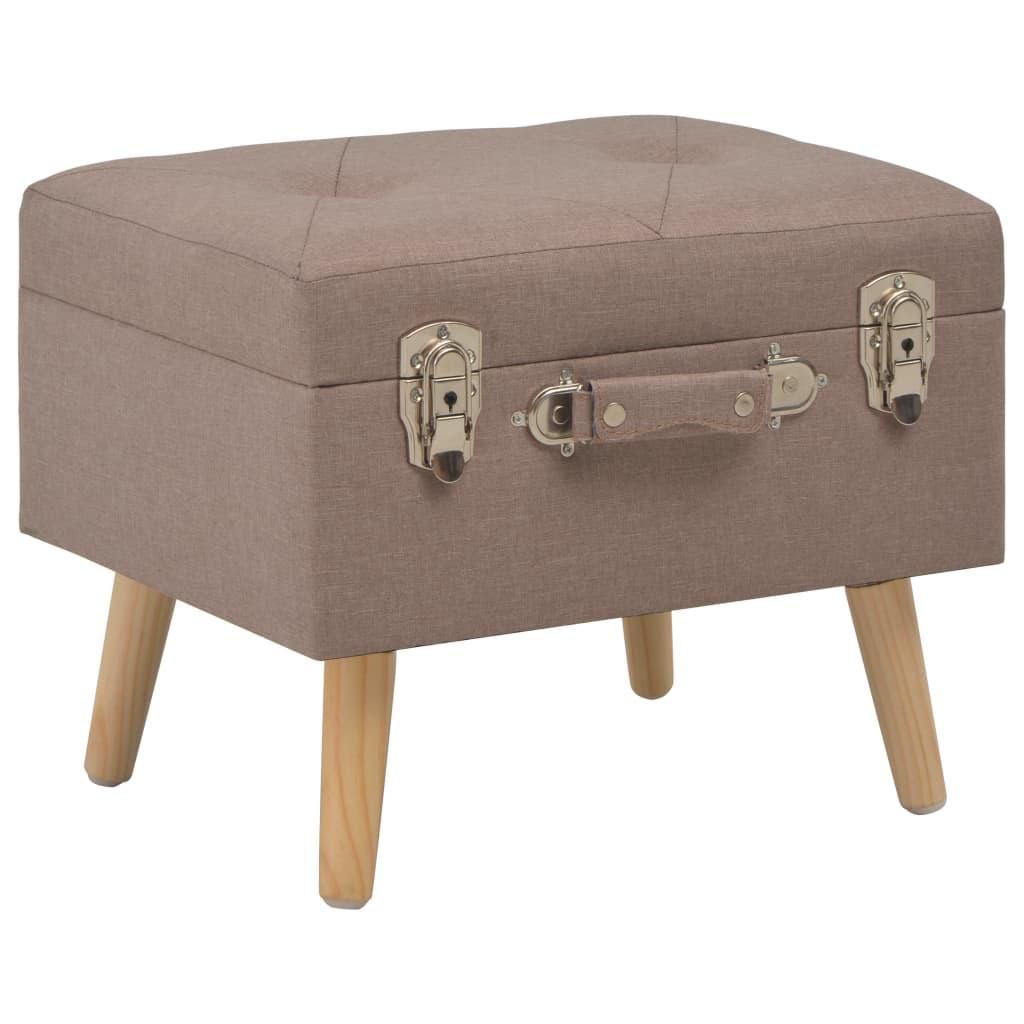 vidaXL Úložná stolička 40 cm hnedá látková