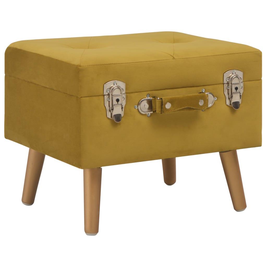vidaXL Úložné stolička 40 cm horčicová zamatová