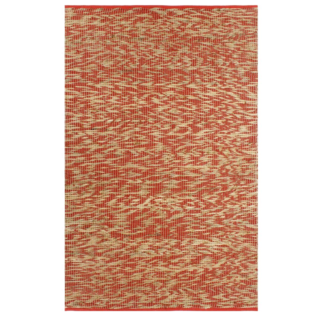 vidaXL Ručne vyrobený jutový koberec modrý a prírodný 80x160 cm