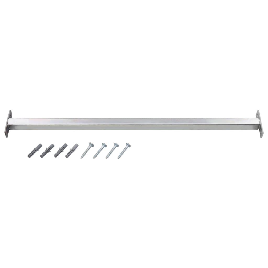 vidaXL Nastaviteľná bezpečnostná okenná lišta 710-1200 mm