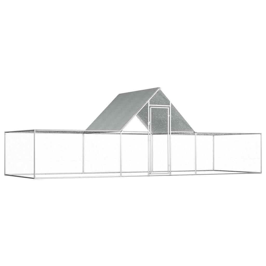 vidaXL Kurín 6x2x2 m pozinkovaná oceľ