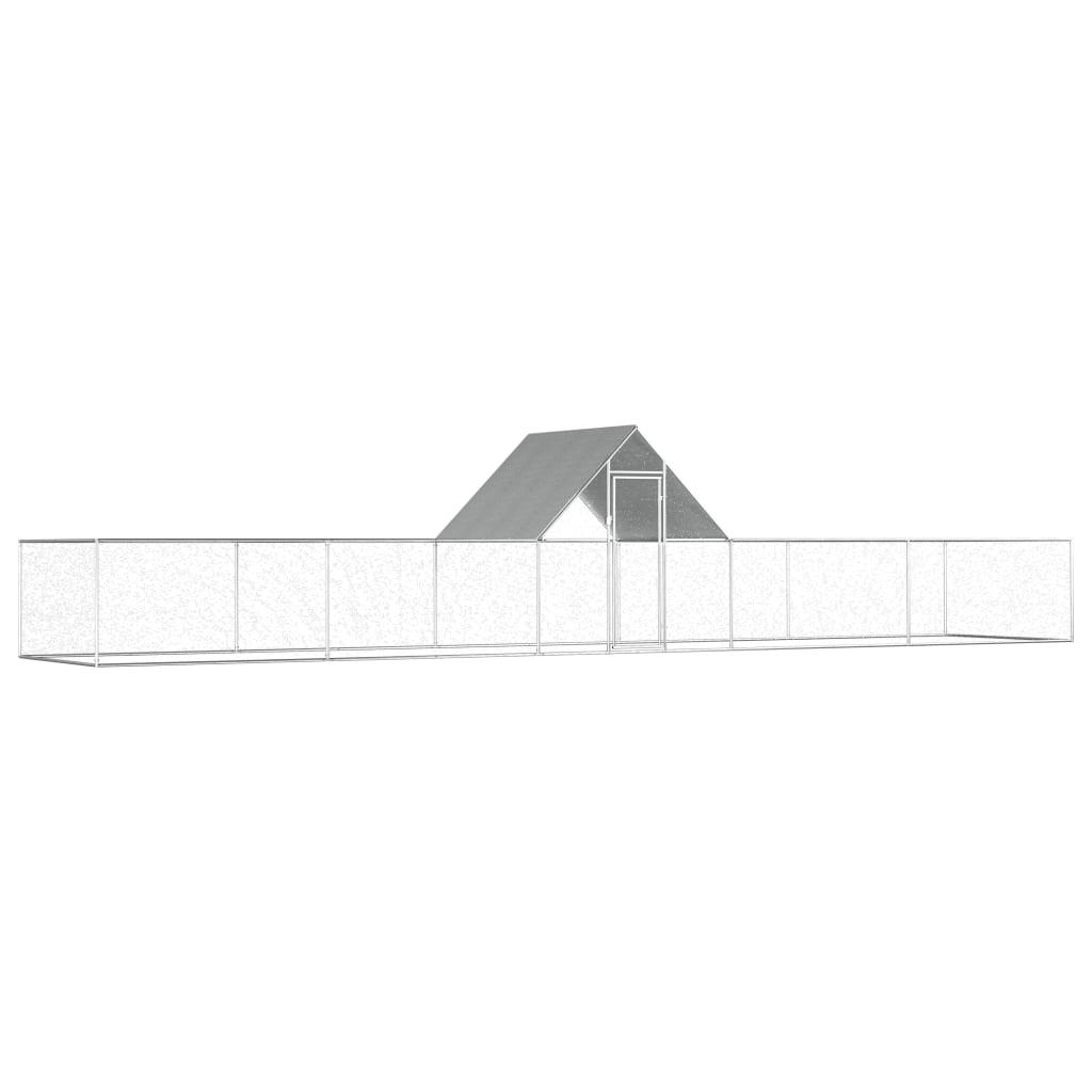 vidaXL Kurín 10x2x2 m pozinkovaná oceľ