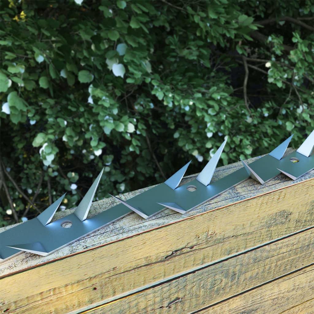 vidaXL Nástenné hroty 2 ks 1 m oceľové