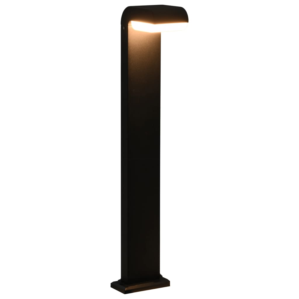 vidaXL Vonkajšia LED lampa 9 W, čierna, oválna