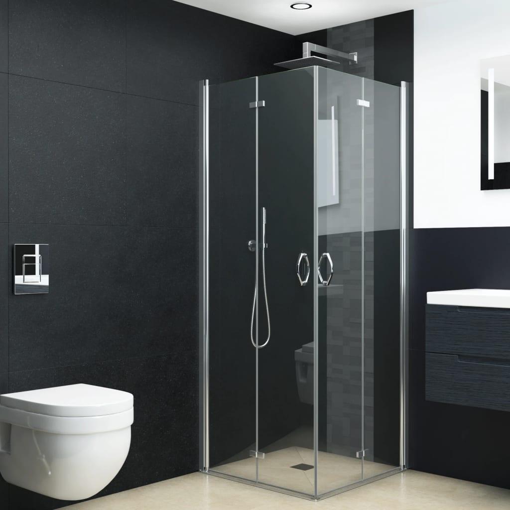 vidaXL Sprchový kút s dvojkrídlovými sprchovými dverami ESG 80x70x185 cm