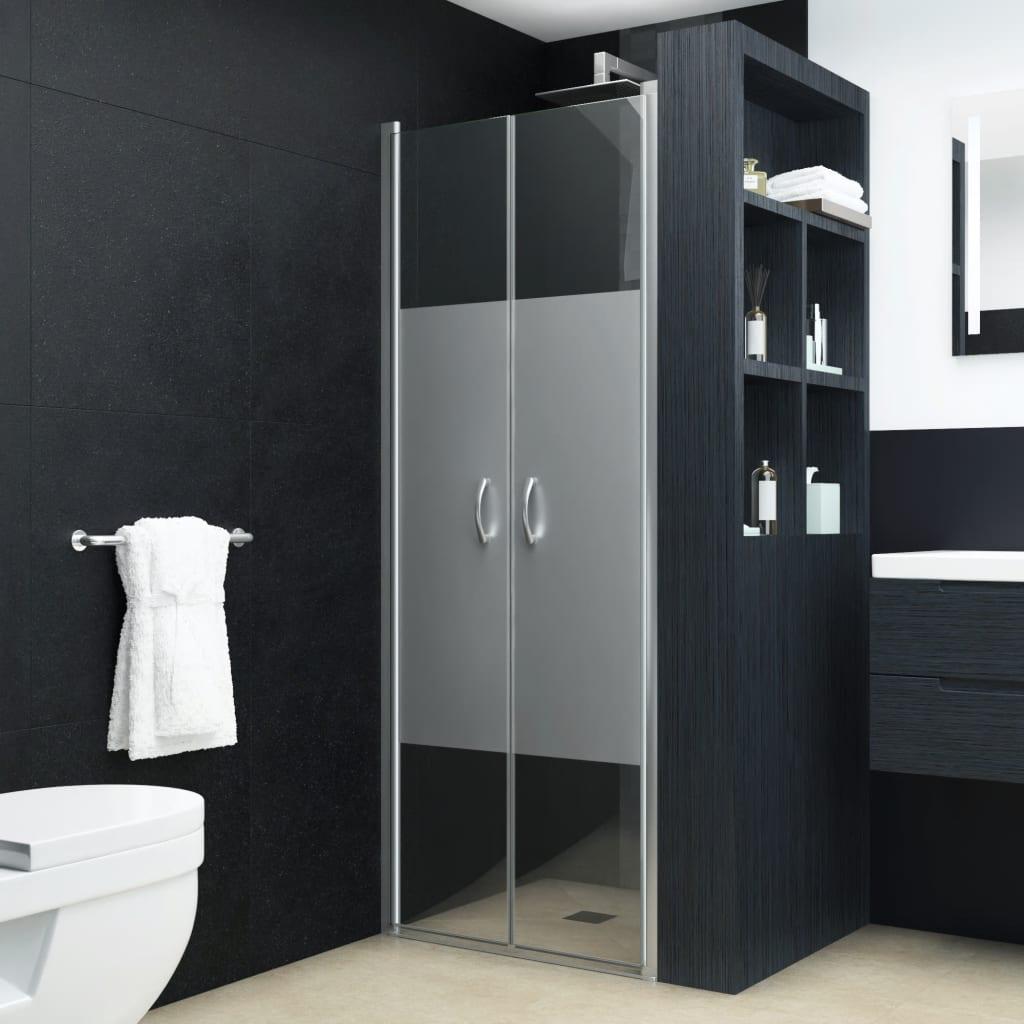 vidaXL Sprchové dvere polopriehľadné ESG 75x185 cm