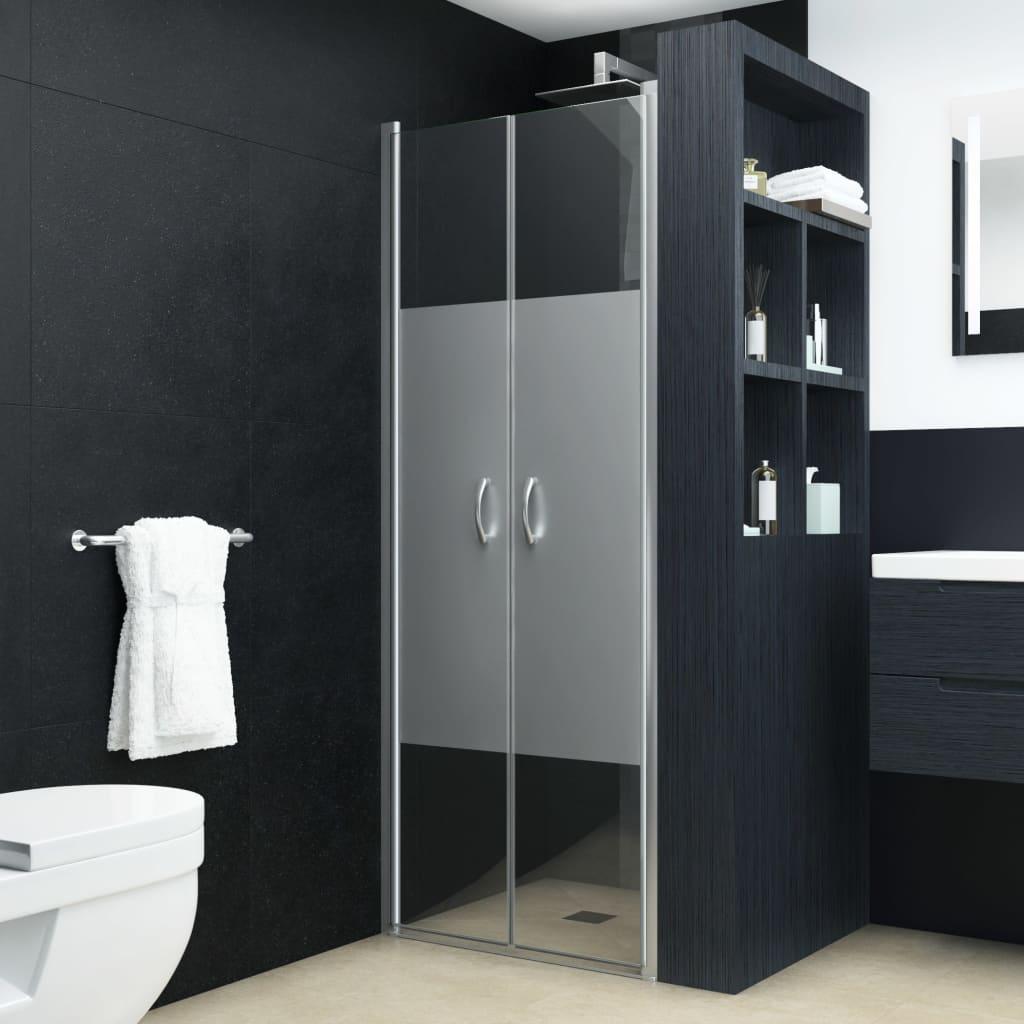 vidaXL Sprchové dvere polopriehľadné ESG 80x185 cm