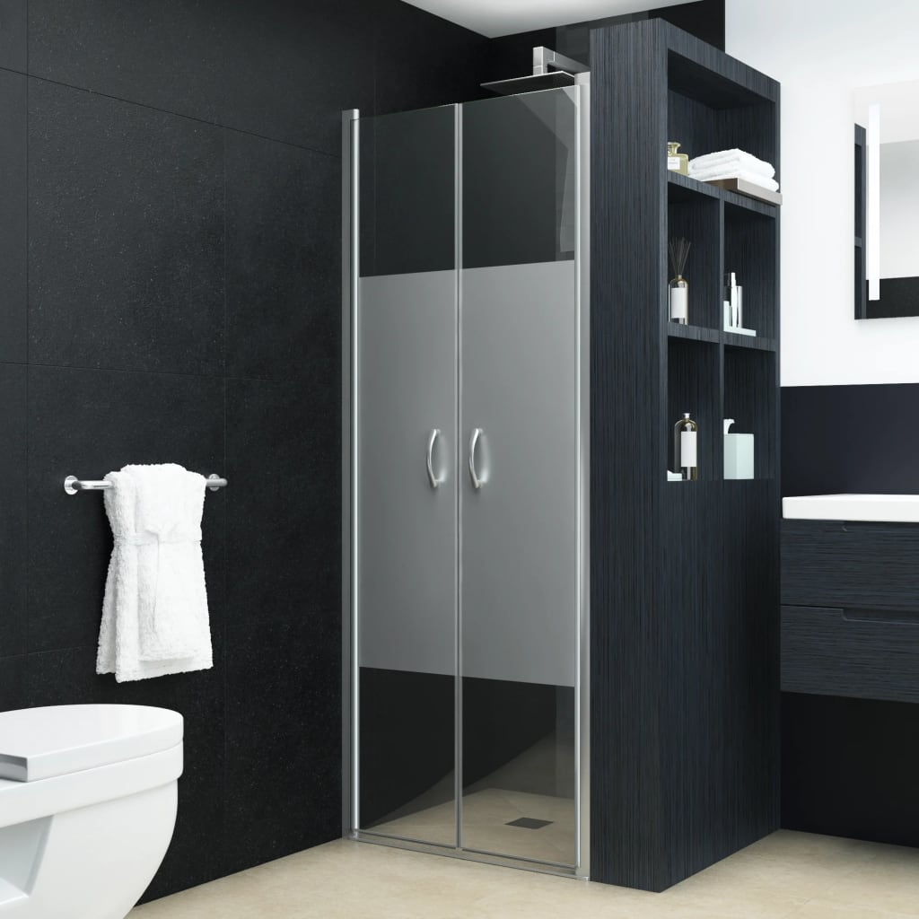 vidaXL Sprchové dvere polopriehľadné ESG 85x185 cm
