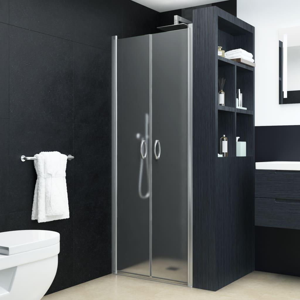 vidaXL Sprchové dvere nepriehľadné ESG 80x185 cm