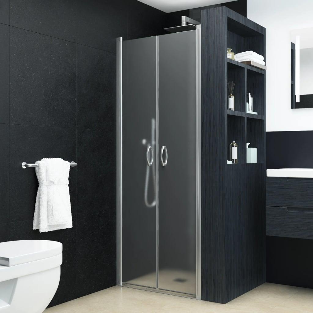 vidaXL Sprchové dvere nepriehľadné ESG 90x180 cm