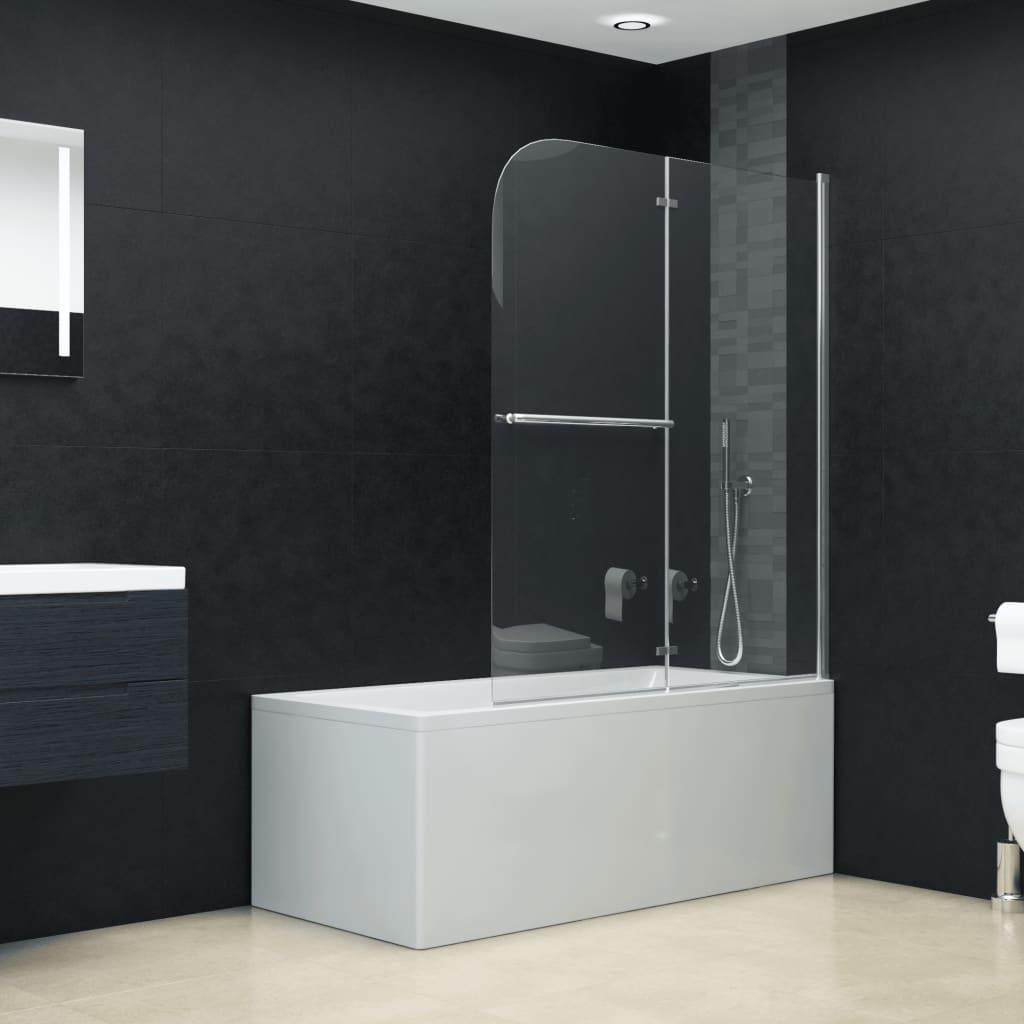 vidaXL Skladací sprchový kút 2 panely 120x140 cm ESG
