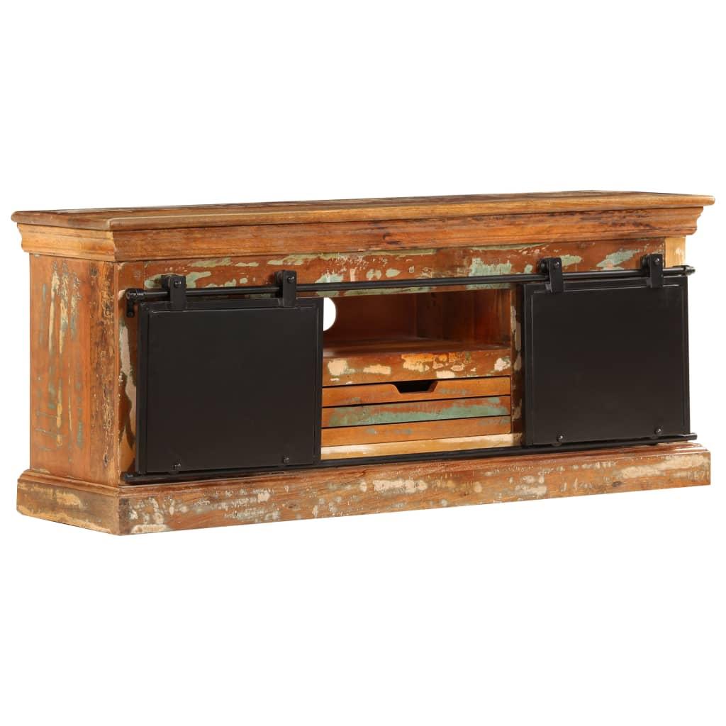vidaXL TV stolík z recyklovaného dreva 110x30x45 cm