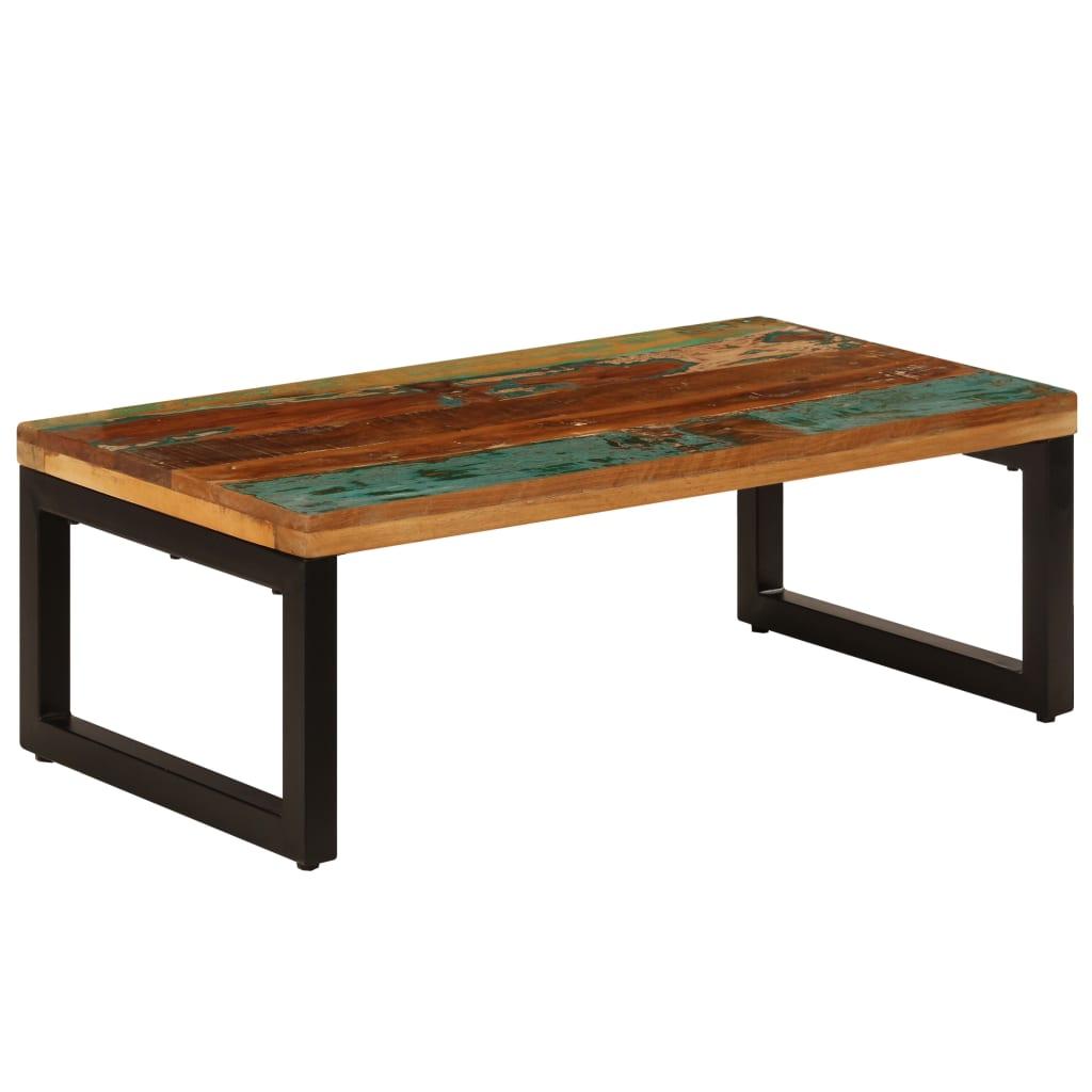 vidaXL Konferenčný stolík z recyklovaného dreva a ocele 110x50x35 cm