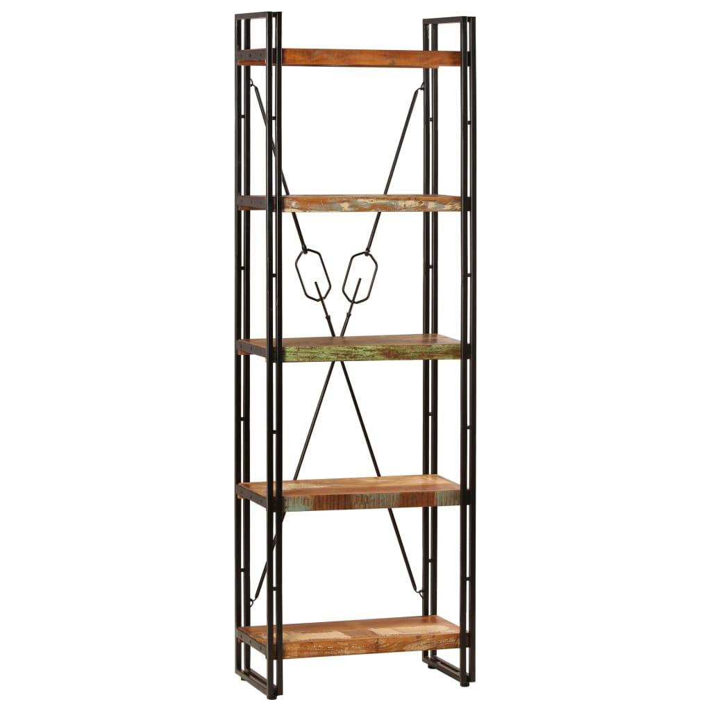 vidaXL Knižnica z recyklovaného dreva s 5 policami 60x30x180 cm