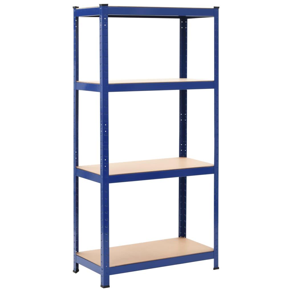 vidaXL Skladovací regál modrý 80x40x160 cm oceľ a MDF