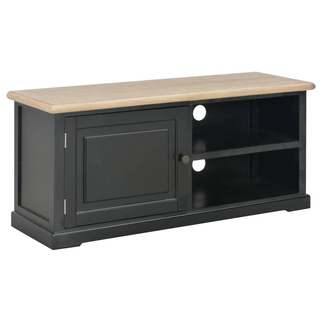 vidaXL TV stolík čierny 90x30x40 cm drevený