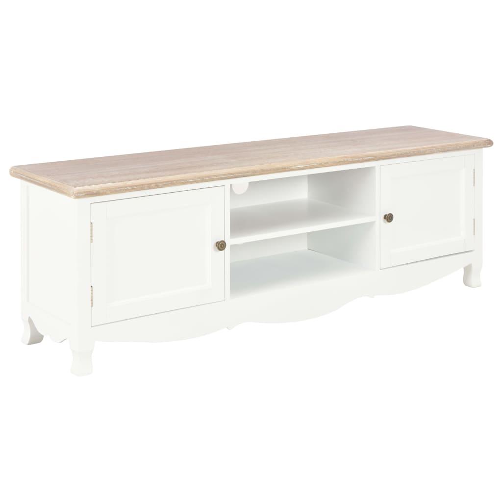 vidaXL TV stolík biely 120x30x40 cm drevený