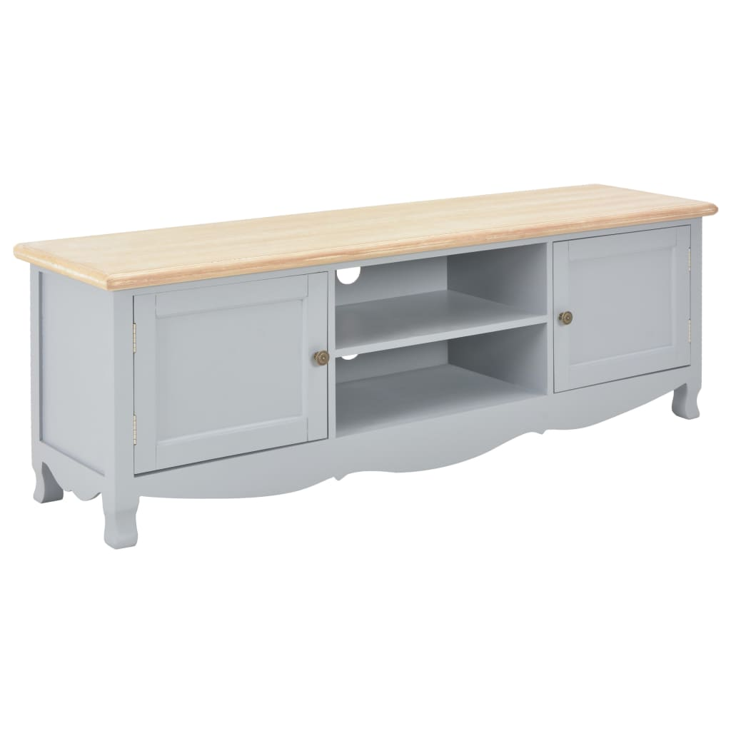 vidaXL TV stolík sivý 120x30x40 cm drevený