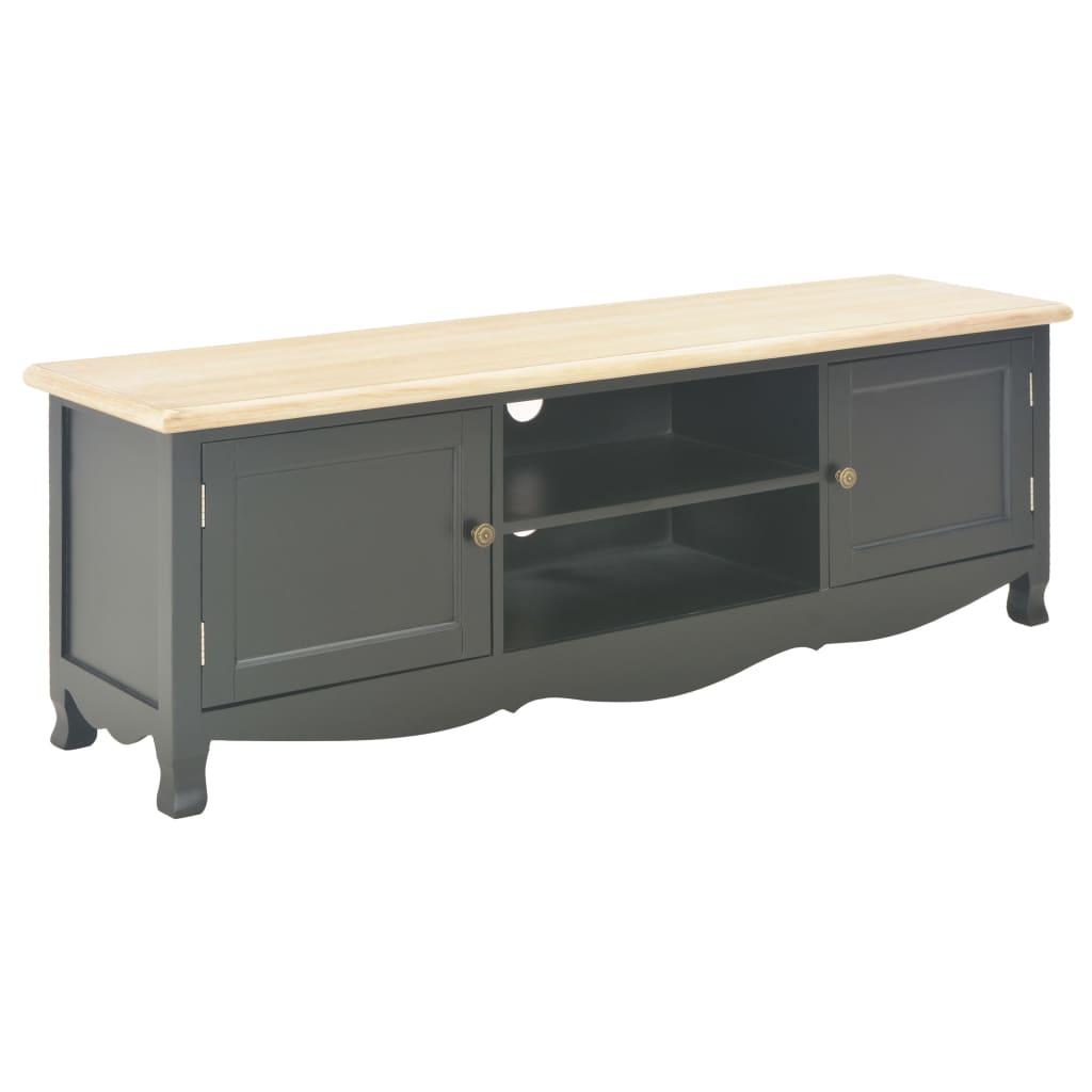 vidaXL TV stolík čierny 120x30x40 cm drevený