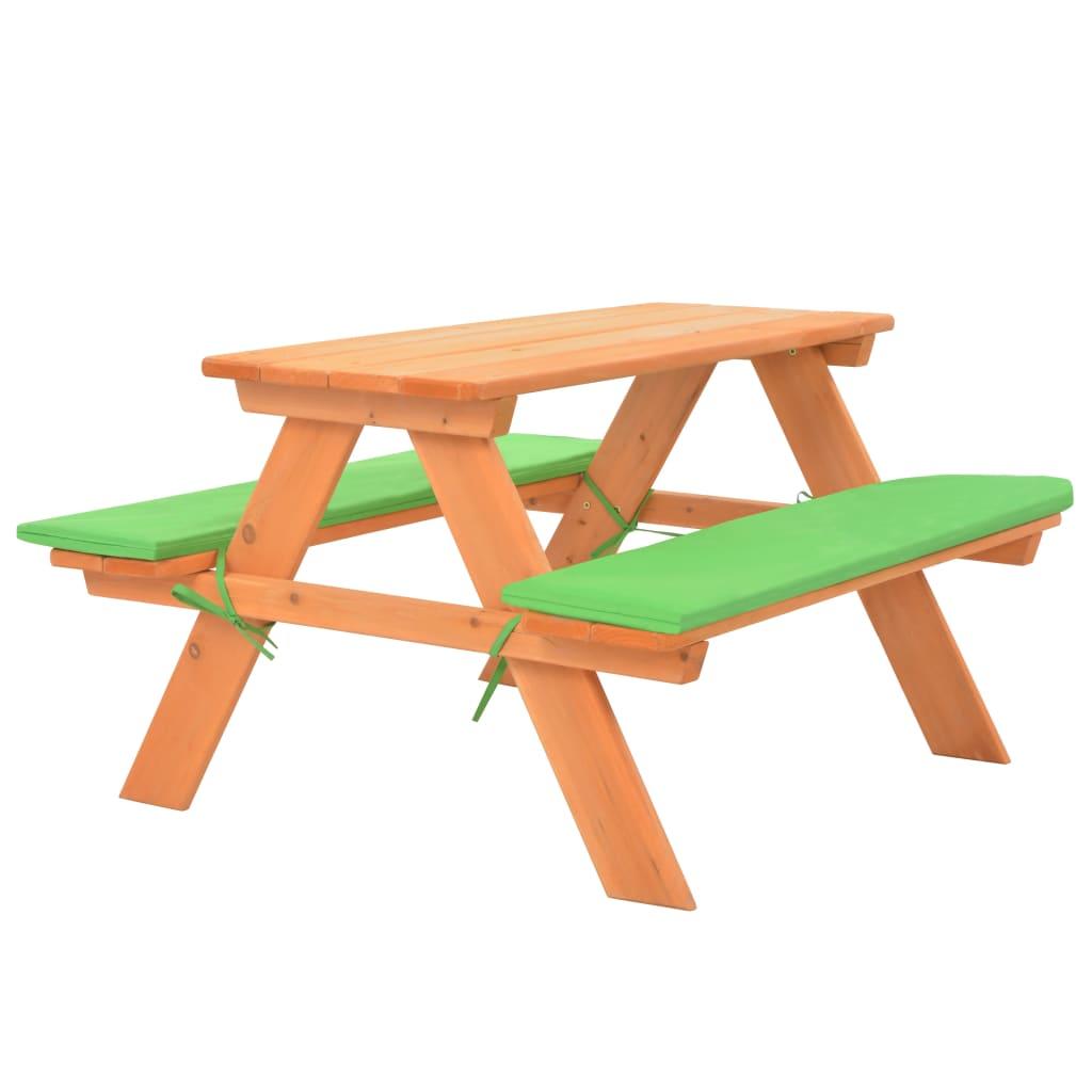 vidaXL Detský piknikový stôl s lavicami 89x79x50 cm masívne jedľové drevo