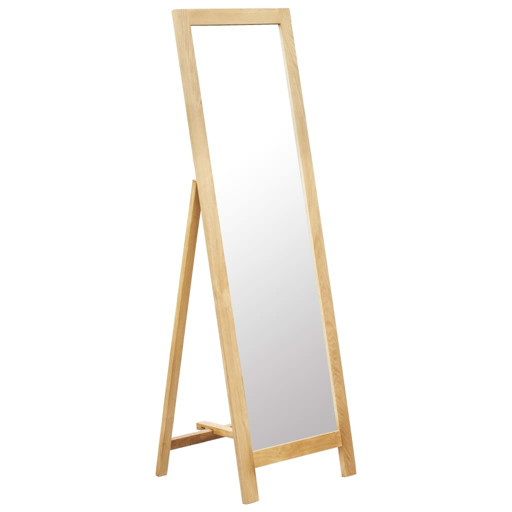 vidaXL Voľne stojace zrkadlo 48x46,5x150 cm masívne dubové drevo