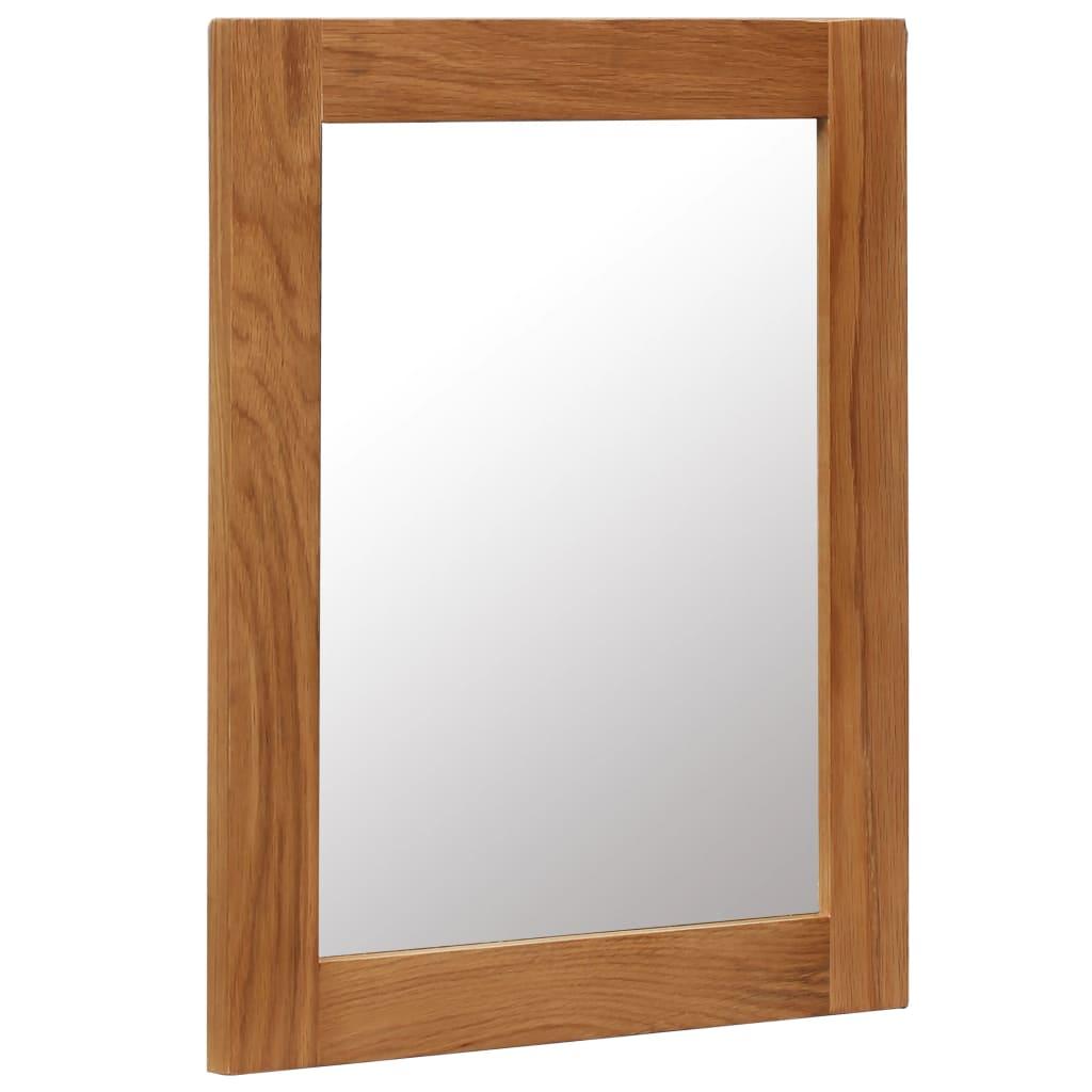 vidaXL Zrkadlo z dubového dreva 40x50 cm