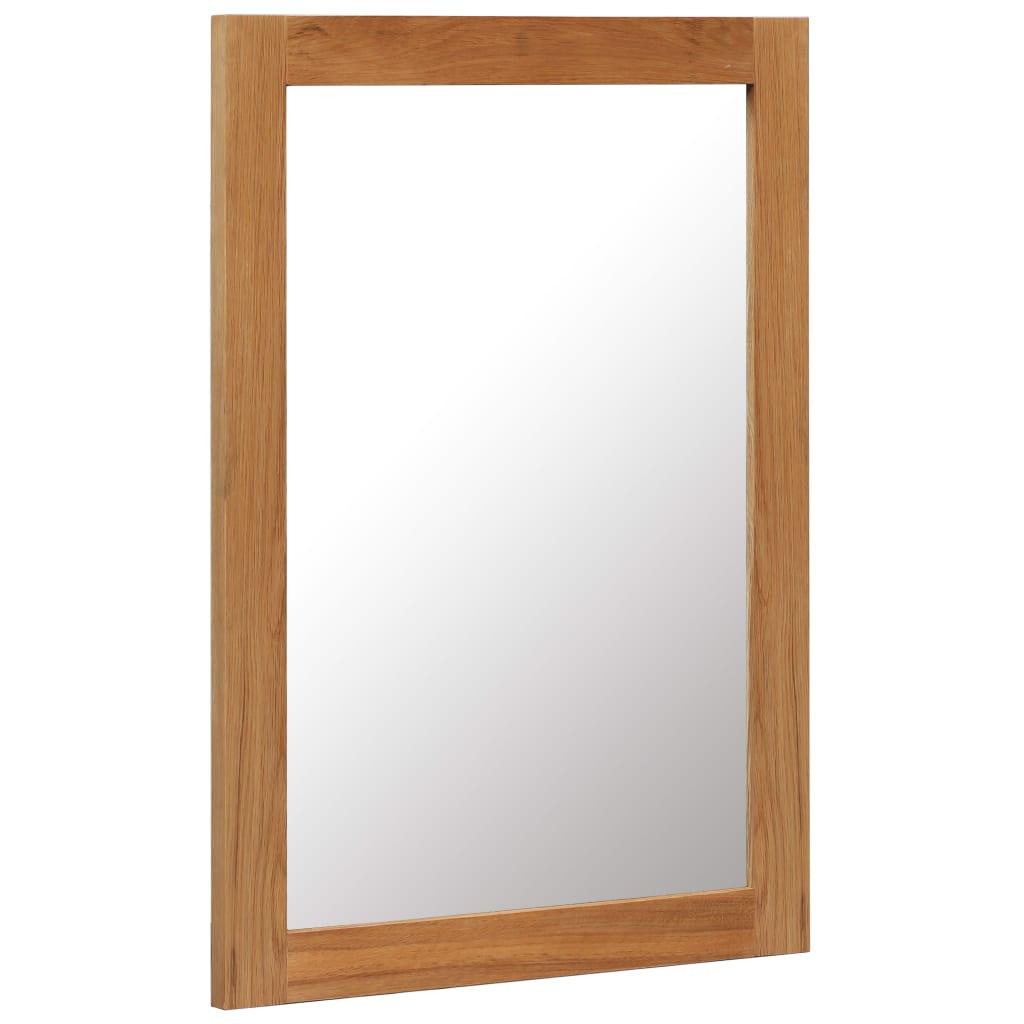 vidaXL Zrkadlo z dubového dreva 50x70 cm