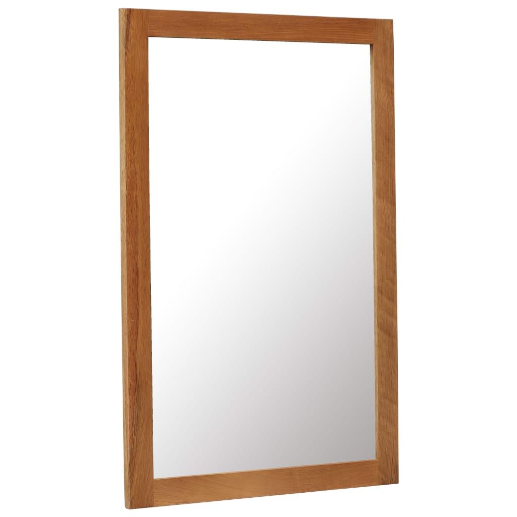 vidaXL Zrkadlo z dubového dreva 60x90 cm