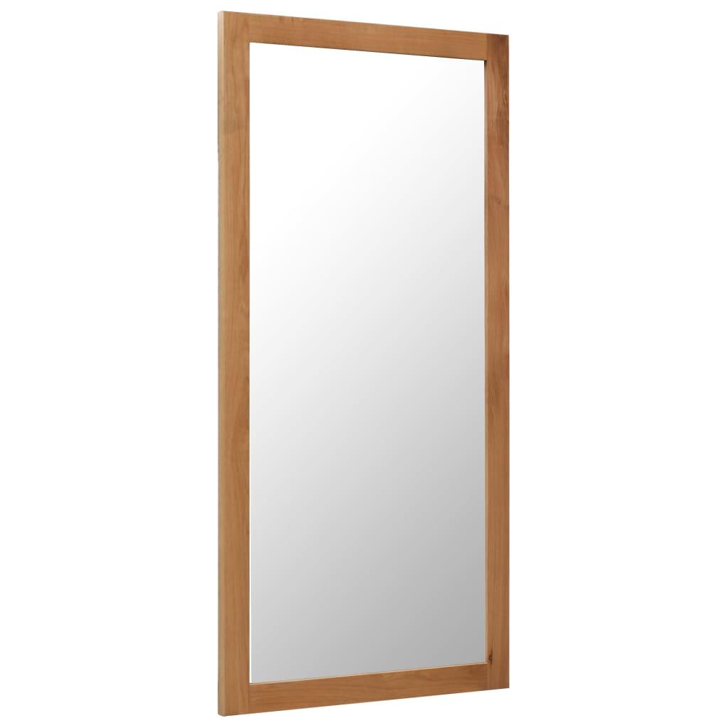 vidaXL Zrkadlo z dubového dreva 60x120 cm