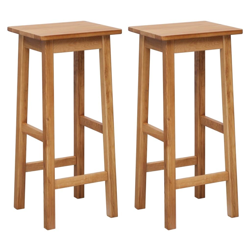 vidaXL Barové stoličky 2 ks 30x35x75 cm masívne dubové drevo