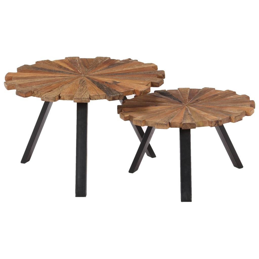 vidaXL Konferenčné stolíky 2 ks drevo z podvalov