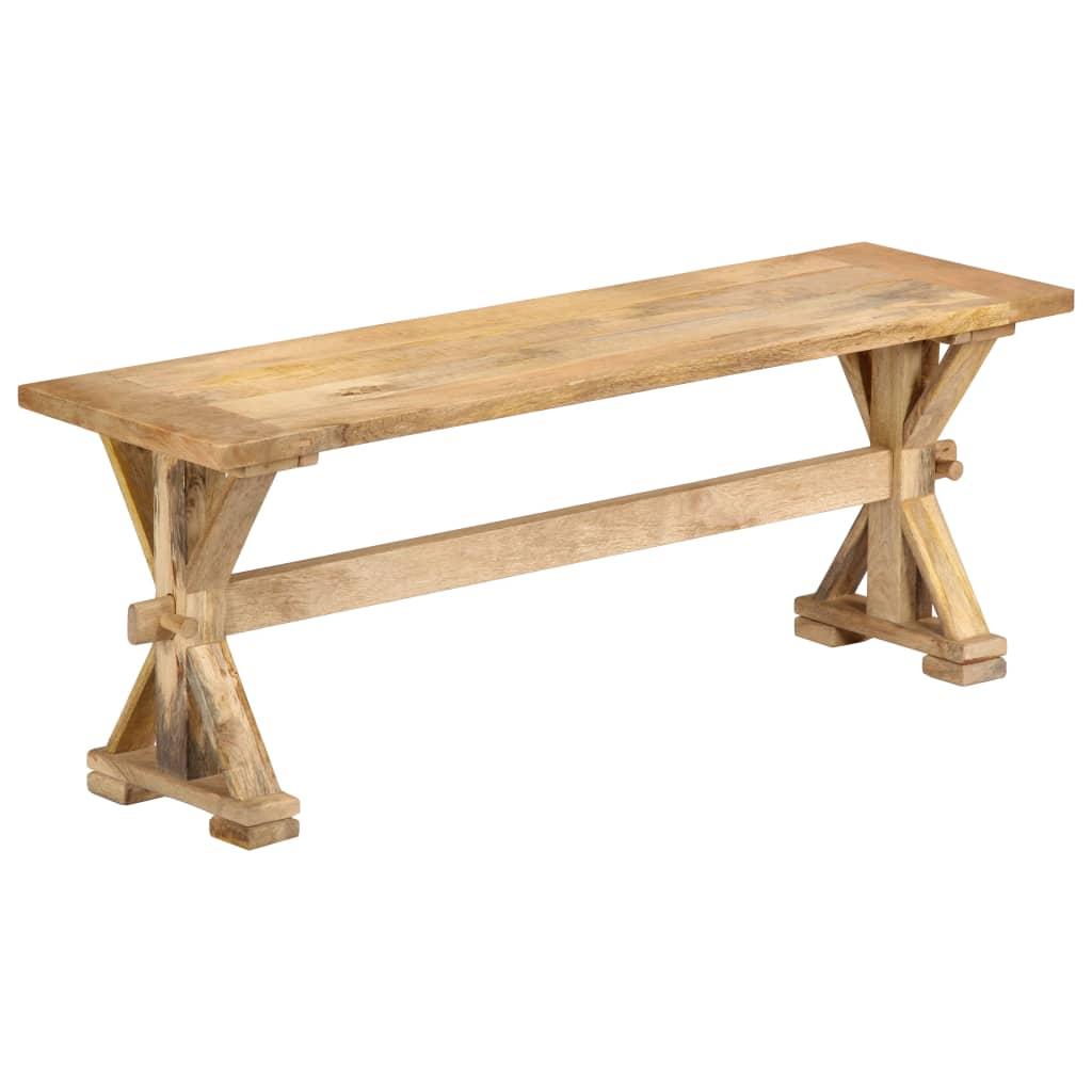 vidaXL Lavička do chodby 120x35x45 cm masívne mangovníkové drevo