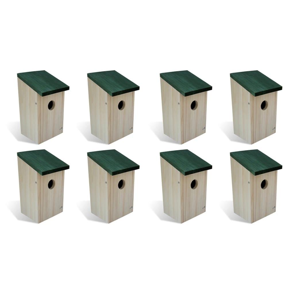 vidaXL Vtáčie búdky 8 ks 14x15x22 cm drevené
