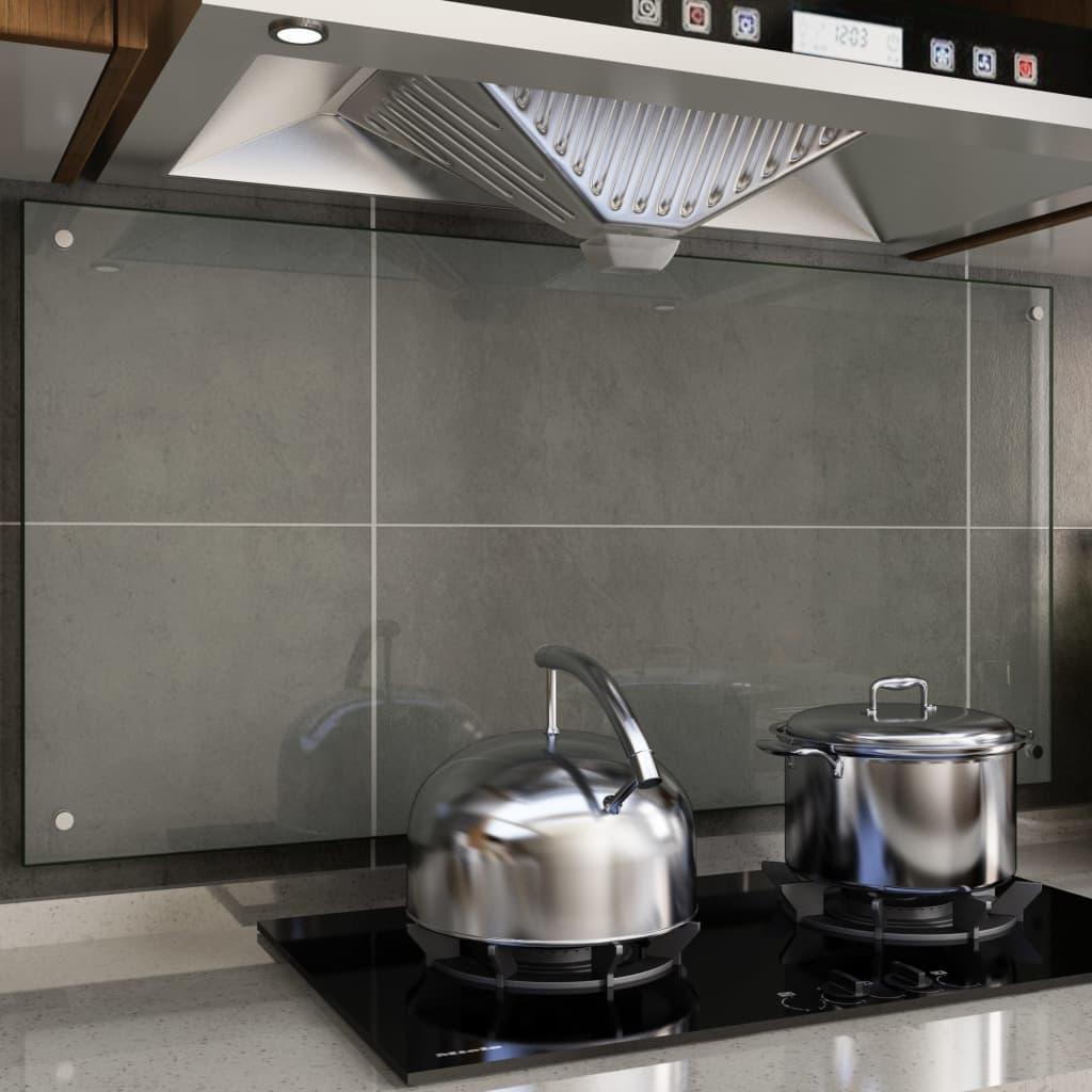 vidaXL Kuchynská zástena, priehľadná 120x60 cm, tvrdené sklo