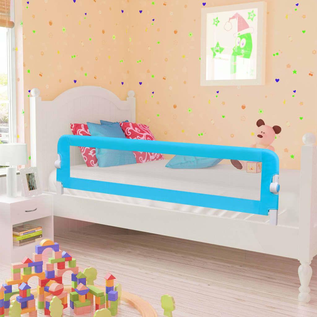 vidaXL Zábrana na detskú posteľ, modrá 120x42 cm, polyester