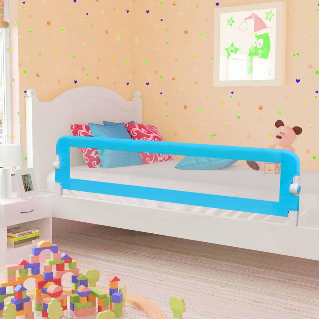 vidaXL Zábrana na detskú posteľ, modrá 180x42 cm, polyester