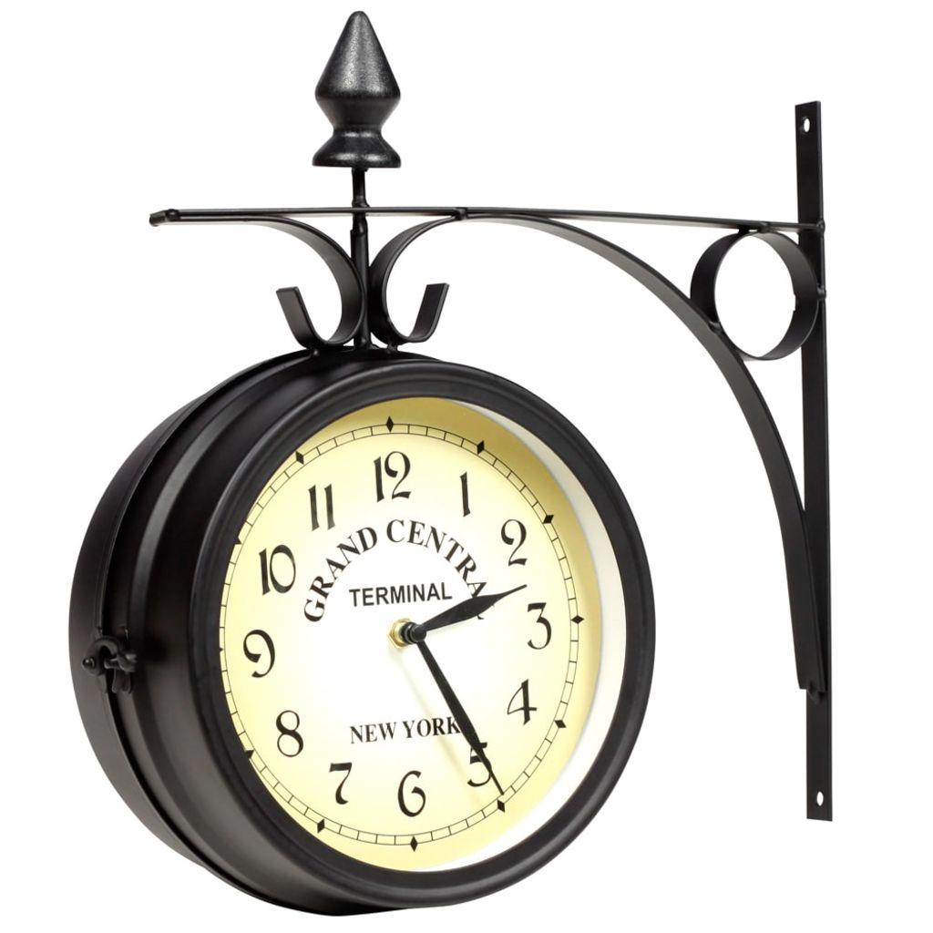 Obojstranné nástenné hodiny