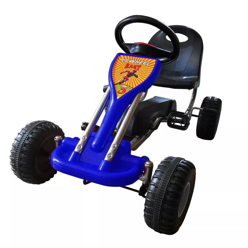 vidaXL Šľapacia motokára, modrá