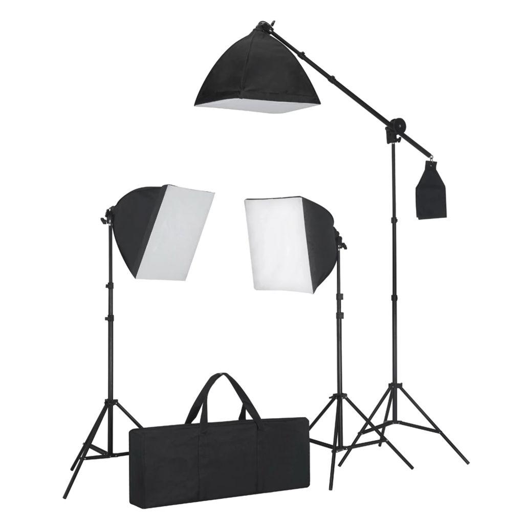 Súprava štúdiového osvetlenia: 3 fotografické svetlá so statívom a softboxom