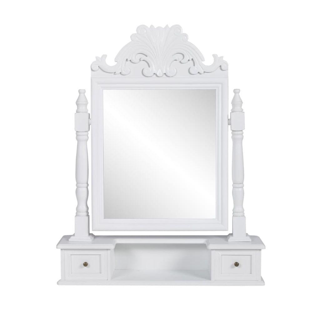 vidaXL Toaletný stolík s obdĺžnikovým polohovateľným zrkadlom, MDF