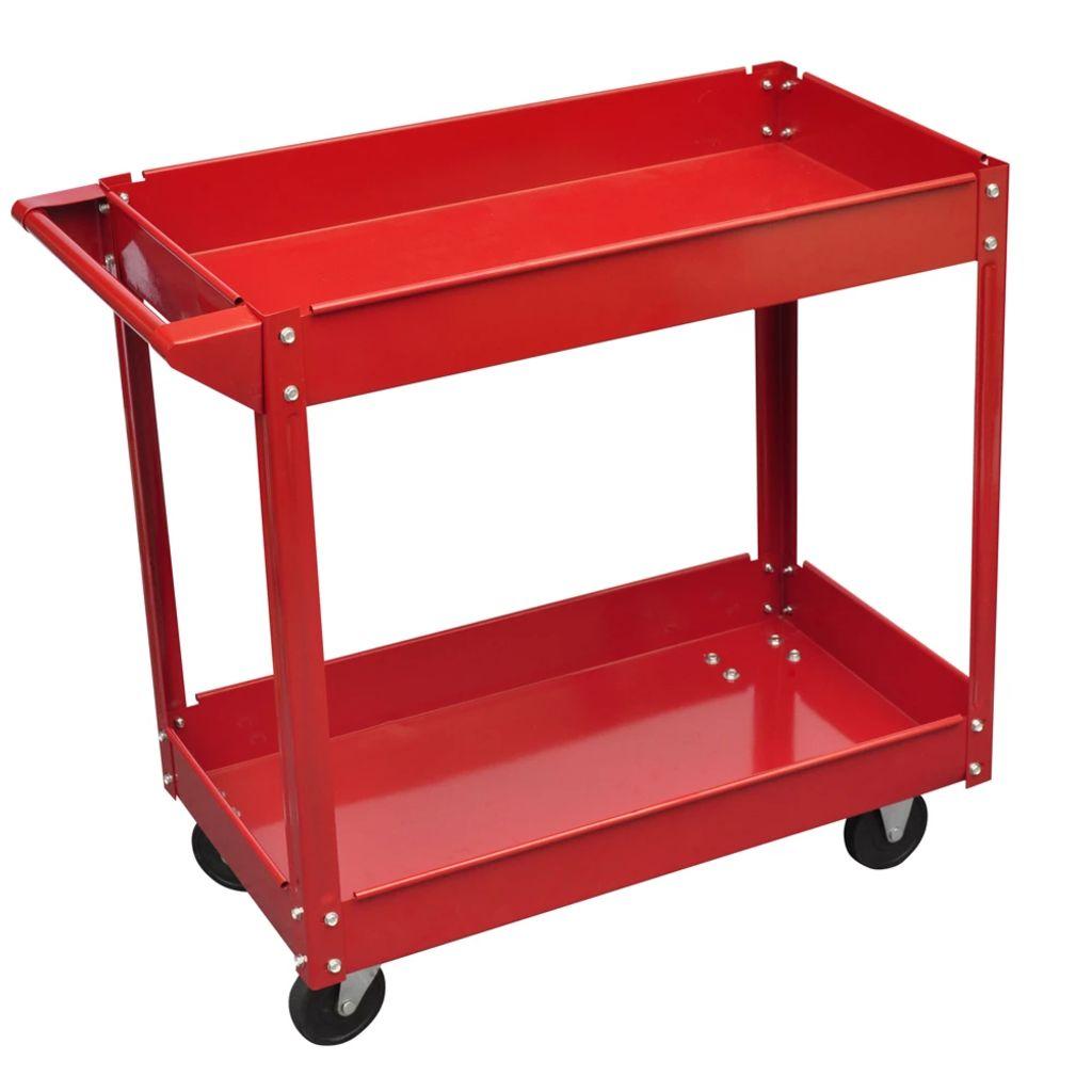 Dielňový vozík pre náradie 100 kg červený