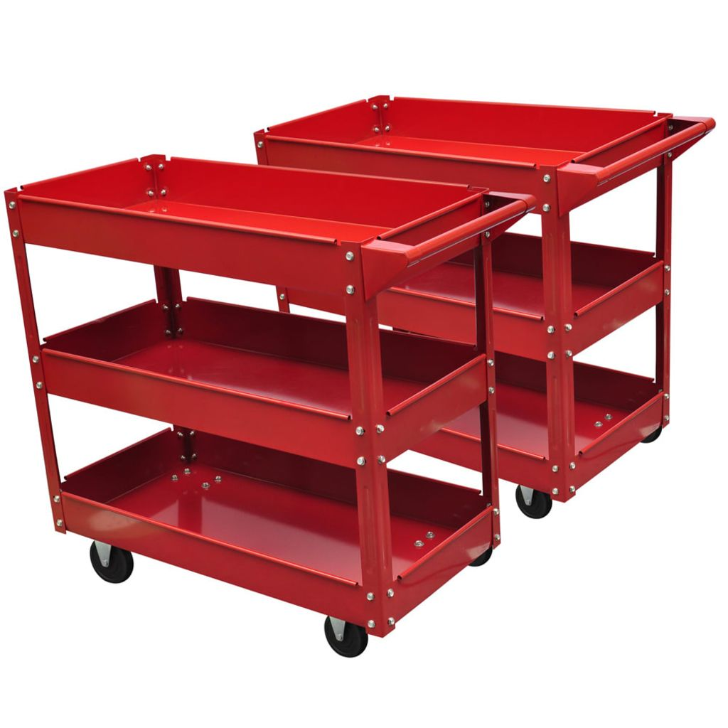 2x Dielenský vozík pre nástroje 100kg