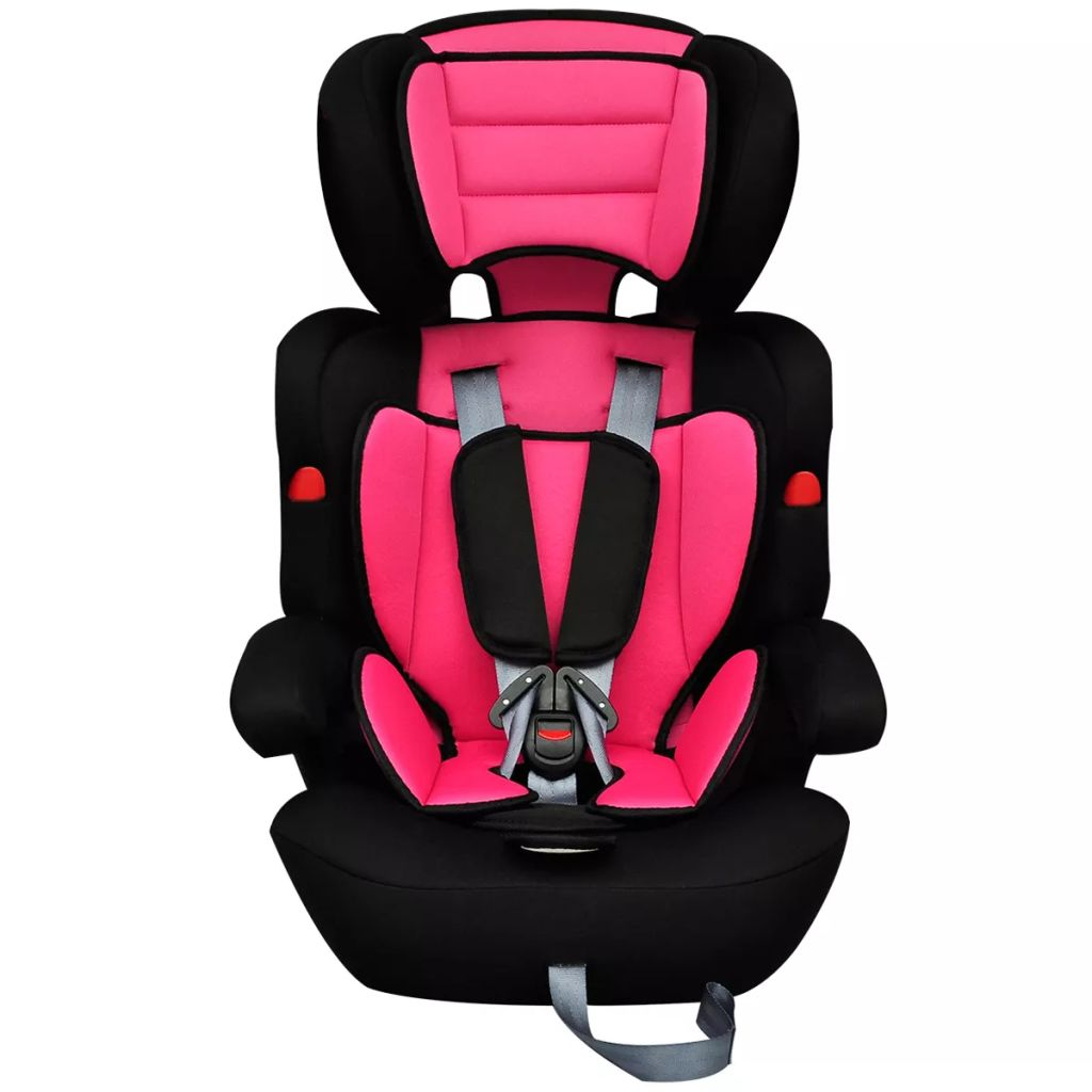 Detská autosedačka s bezpečnostným pásom, ružovo čierna