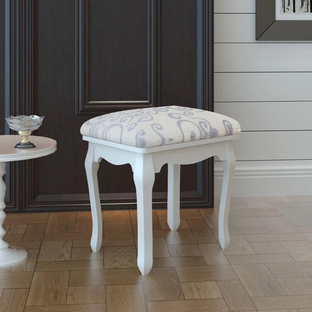 Stolička do dresingu, krémovo biela