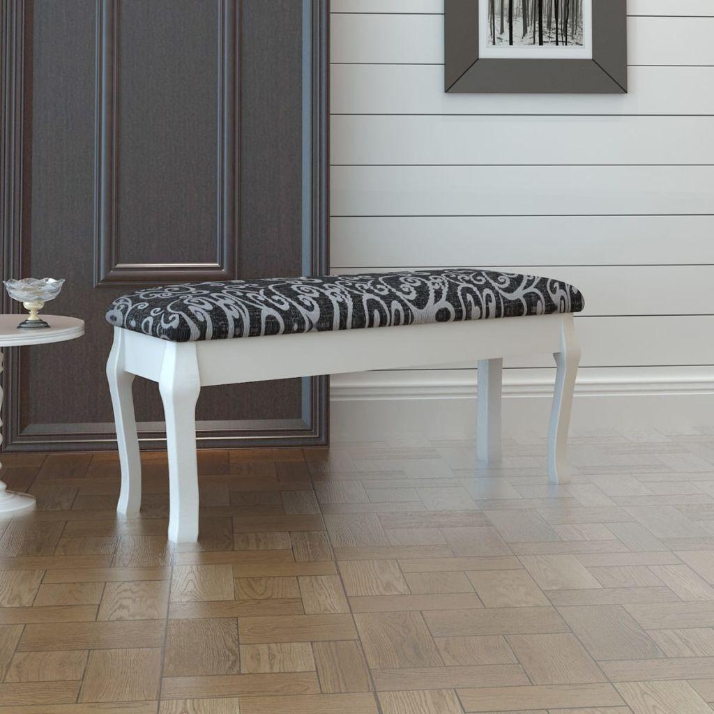 Polstrovaná dvojsedadlová stolička k toaletnému stolíku, čierna, 110cm